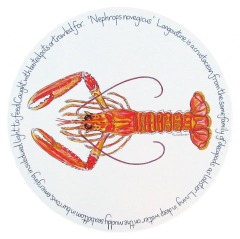 richard bramble tablemat langoustine