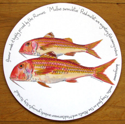 richard bramble tablemat red mullet