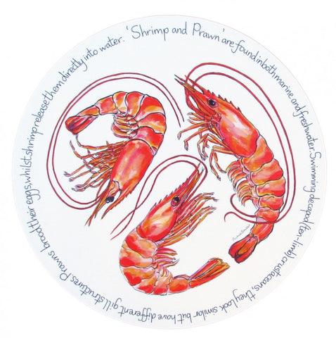 richard bramble tablemat shrimp & prawn