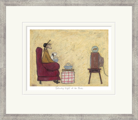Sam Toft Saturday Night At The Movies (2017) Framed