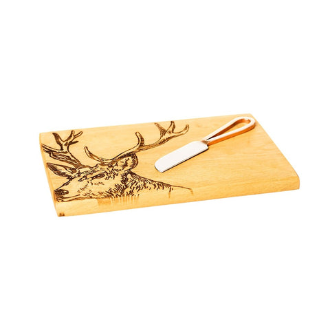 Selbrae House, Stag Oak Cheese Board Knife Set