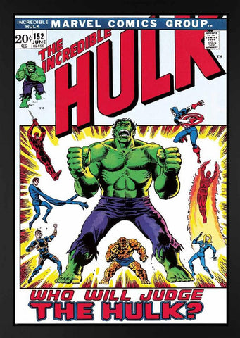 Marvel Superheroes, The Incredible Hulk #152 - Who Will Judge The Hulk? - Boxed Canvas (2013)