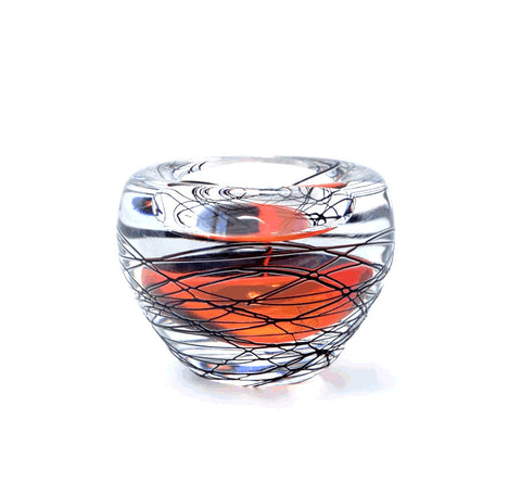 Svaja Amstedam Tealight Holder Black Orange