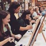screen art class at Painting with a Twist, Aurora Co