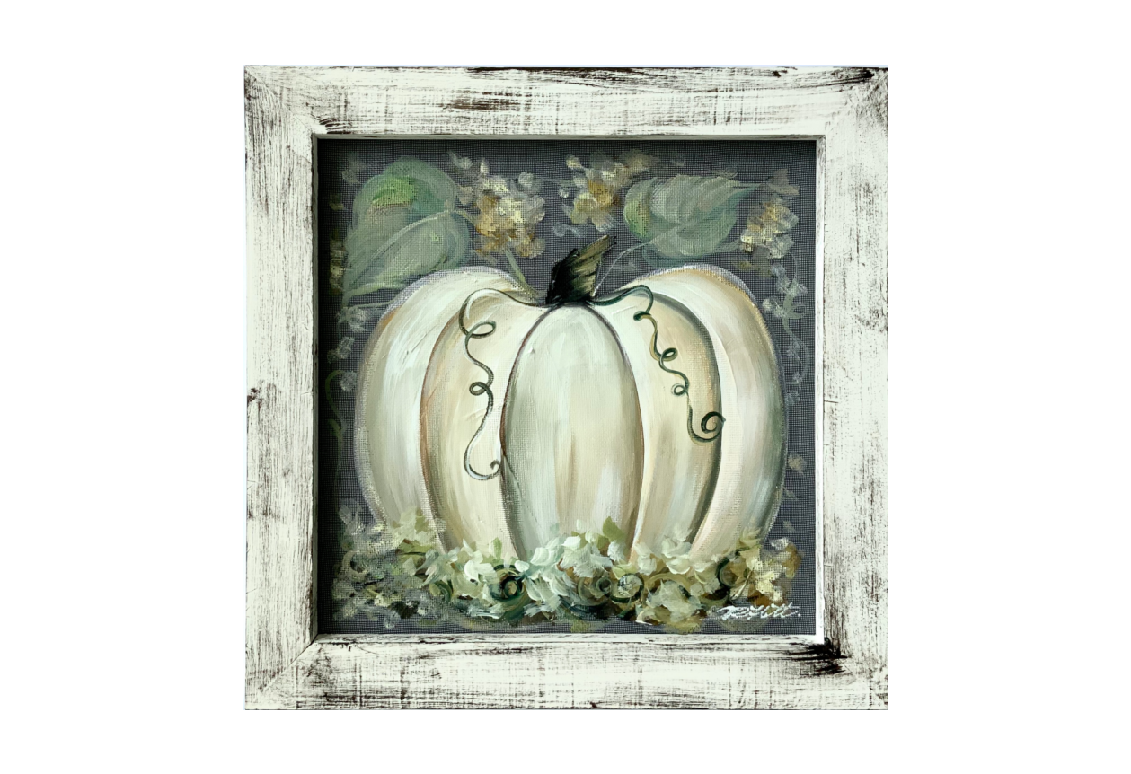 Simple rustic white pumpkin