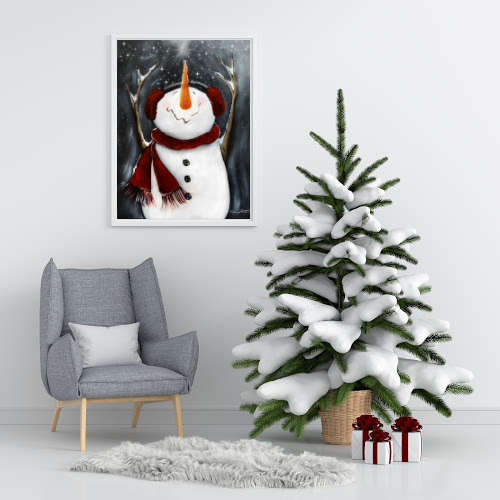 Snowman Print -Wish upon the Star