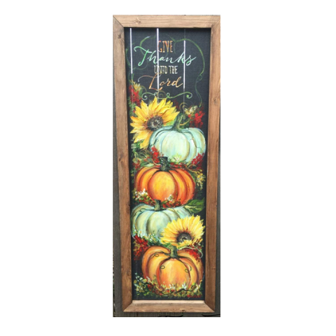 FRONT PORCH, Give Thanks unto the Lord,Porch decor,Fall sign, handmade and hand painted