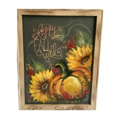 Happy Fall Y'all, porch decor, outdoor art, window screen art,