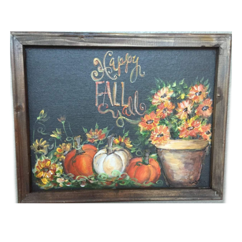 Happy fall y'all, fall decor, fall sign,