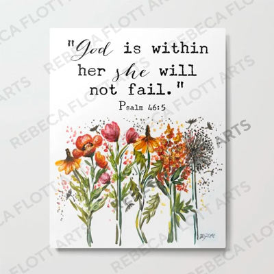 God is within her she will not fail - Print