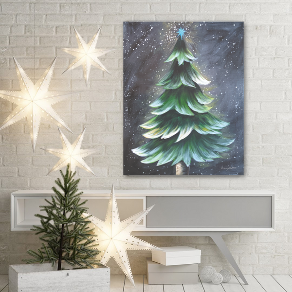 Rustic Christmas Tree by Rebeca Flott Arts