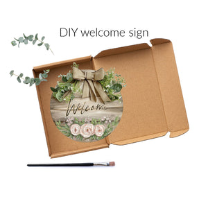 DIY Welcome Sign Round Farmhouse