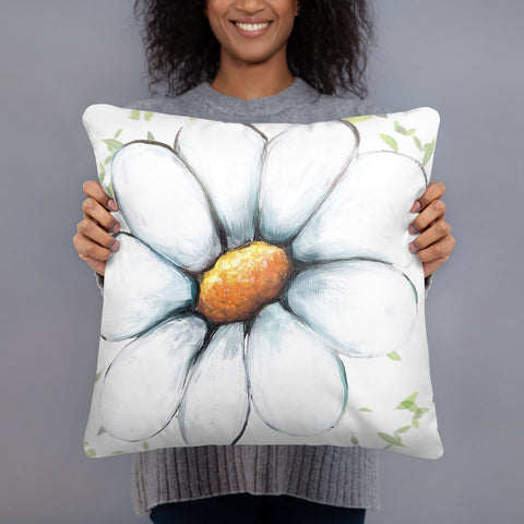 Daisy Pillow by Rebeca Flott Arts