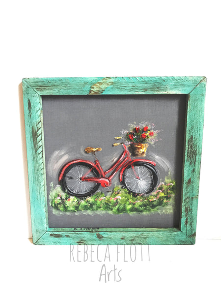 Simple Vintage Bike, custom your favorite colors 16x16