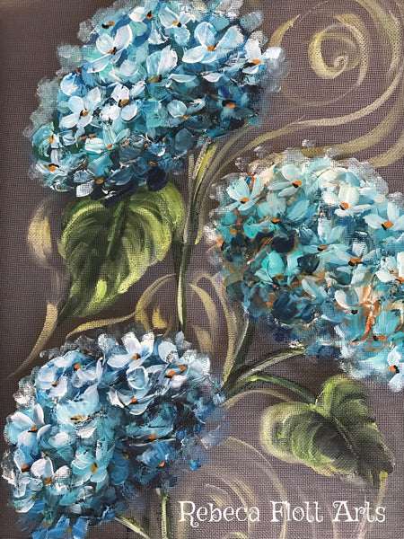 Happy blue hydrangeas... because my gramma lives hydrangeas,blue hydrangeas