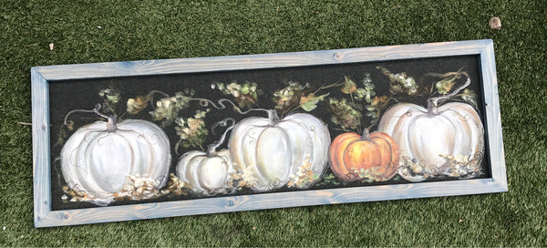 You are created to stand out, fall decor , pumpkins painting