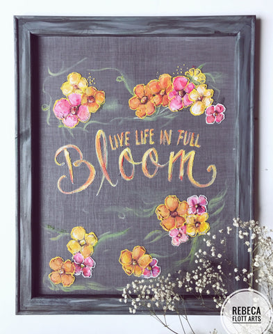 Front porch decor - full bloom