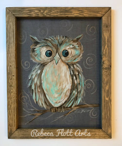 Owl Always Love you , Owl painting