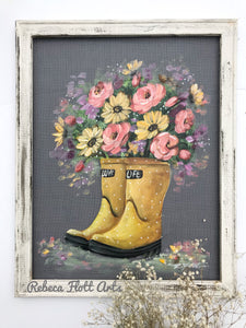 Display grace though your walk, screen art, farmhouse  decor