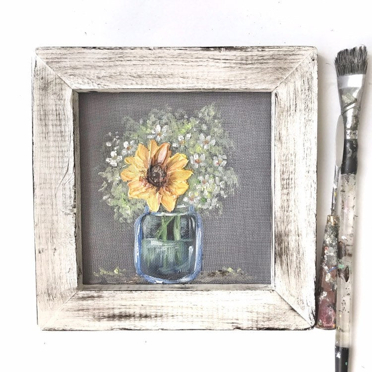 Mini sunflower in a jar!!