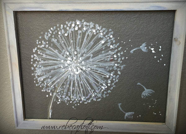 Dandelion Painting - Wall Art