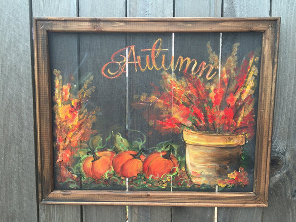 Fall art ,MADE TO ORDER , hand painting, fall decor