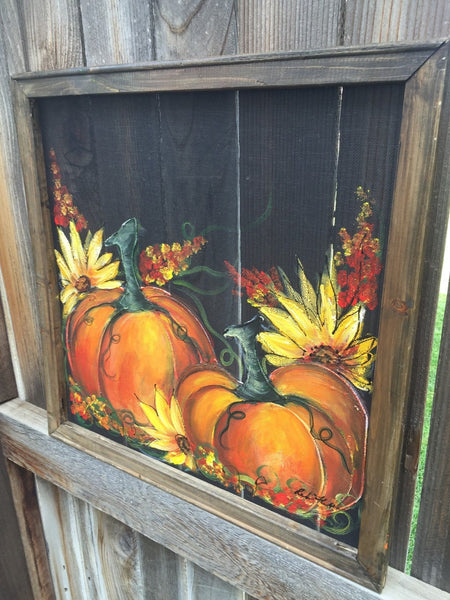 Fall pumpkin, Fall screen, porch decor