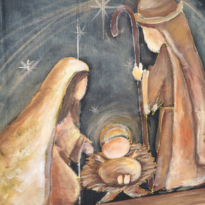 Nativity hand painting