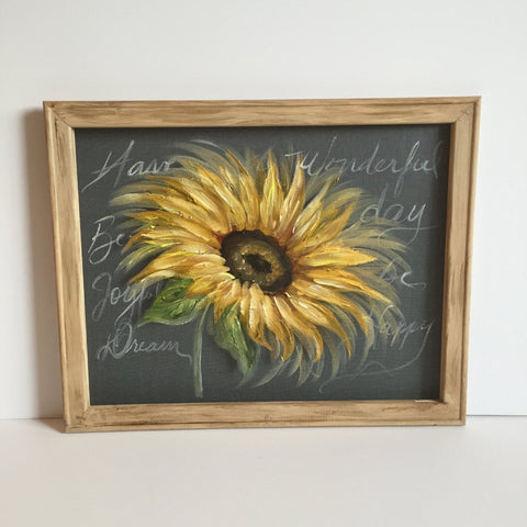Sunflower lll ,rustic wood sunflower,Sunflowers with your favor quote,