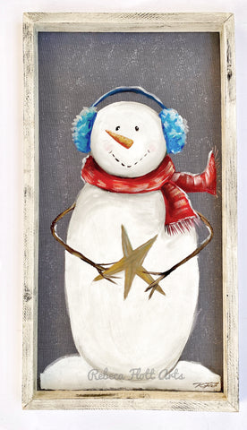 Once upon a star snowman
