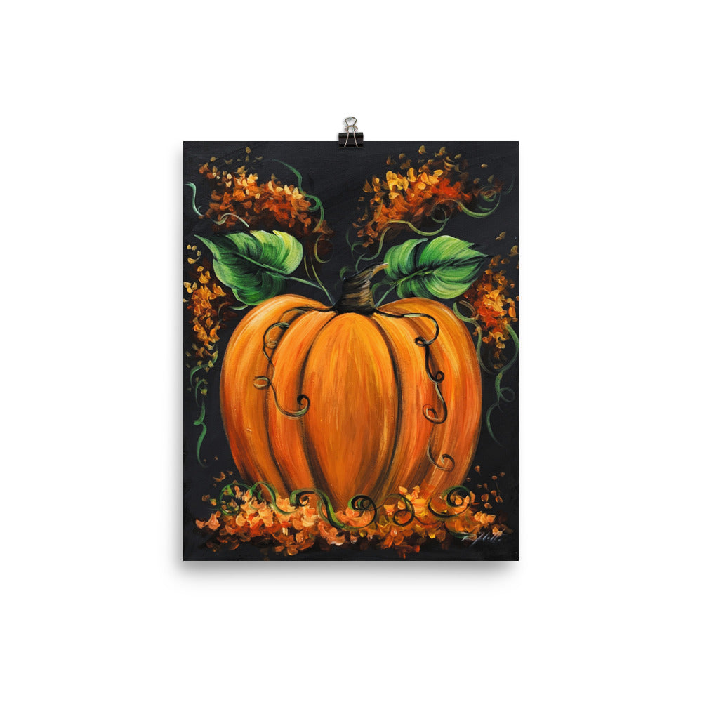 Orange Cinderella Pumpkin Print