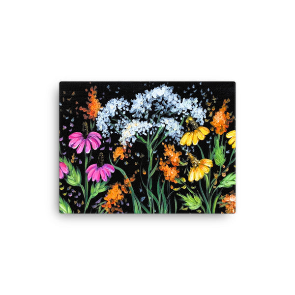 Camp Handmade Wildflowers on Canvas