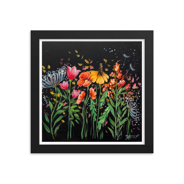 Wild Flower, Print and Frame ready to go