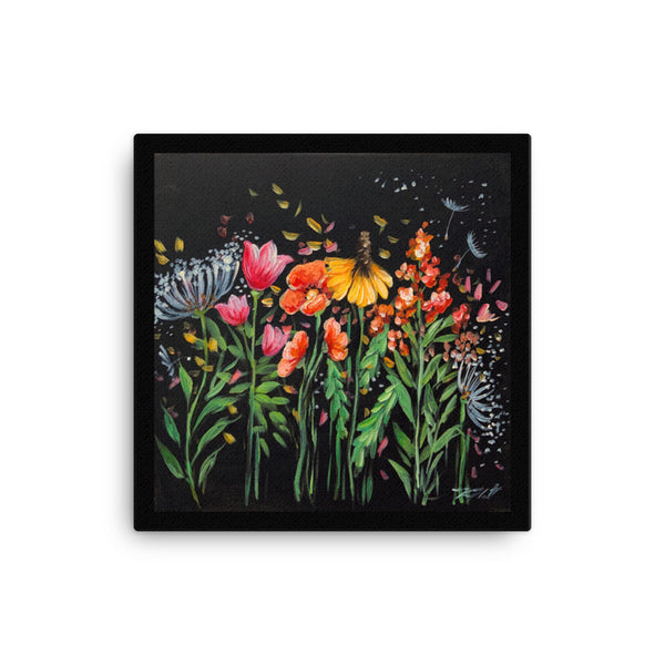 Wildflowers beautiful Canvas ready to hang