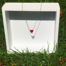Load image into Gallery viewer, Agustina red heart Necklace