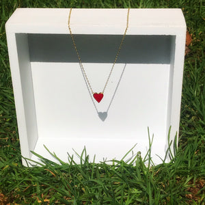 Agustina red heart Necklace