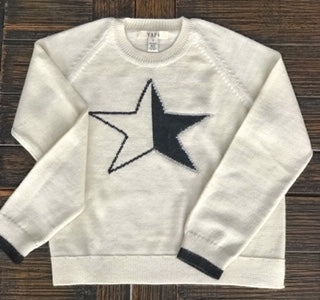 ESTRELLA STAR Baby Alpaca Sweater Off White