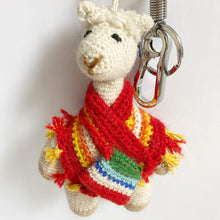 Load image into Gallery viewer, Alpaca Keychain & Bag Charm AURORA
