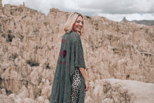 Load image into Gallery viewer, Grey Baby Alpaca Wool Poncho Cape AMOR