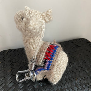 handmade baby alpaca keychain and bag accessories designed in Nyc made in Bolivia