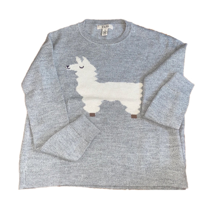 baby alpaca wool grey sweater