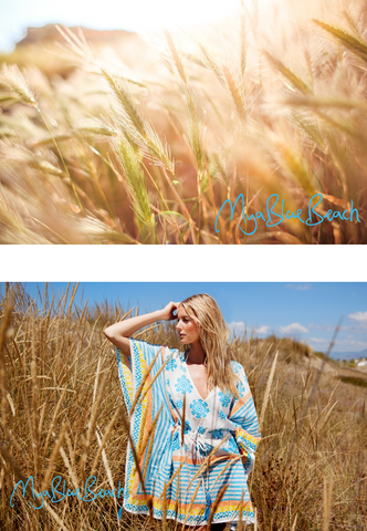 Beach walks in designer kaftans, wear a beache kaftan as part of your holiday wardrobe. Buy Beachwear in UK. Shop kafatns and beachwear cover-ups in UK . Shop Kaftans in Germany