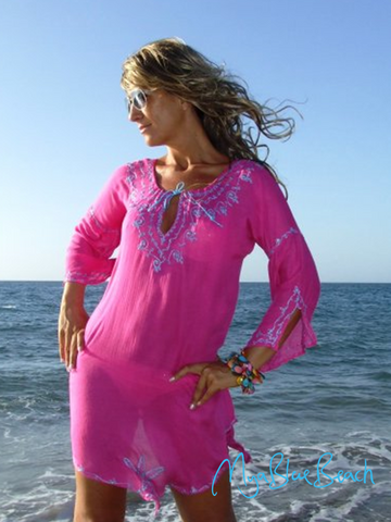 Cototn plus size beach kaftan and beachwear cover-ups  and plus size cotton coverups buy in UK and buy plus size beachwear in USA