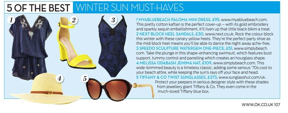 MyaBlueBeah Paloma Black Mini dress in OK Magazine