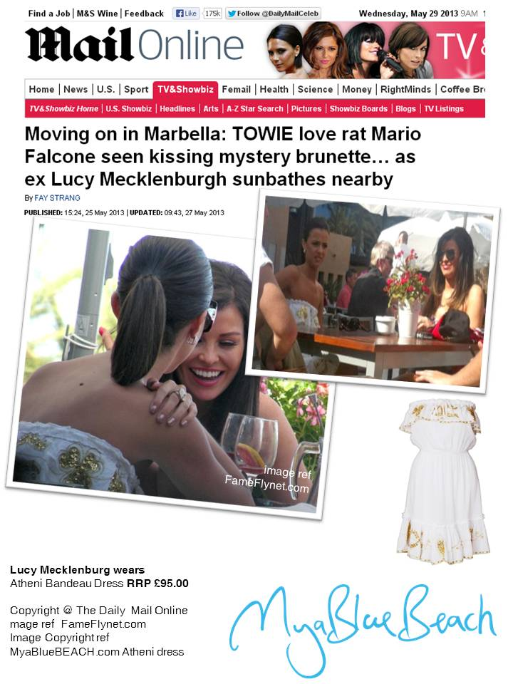 Lucy Mecklenburgh wears white summer holiday dress