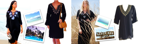 Black caftans black beach kafatns and black designer beach cover-ups for endless summer fashion. Shop black kafatns UK. Shop stunning balck kaftans USA