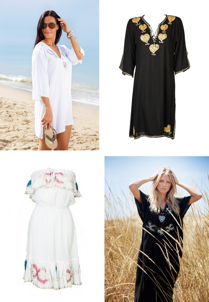 MyaBlueBeach timeless holiday beach kafatns and designer beach cafatns cover-ups for winter sun holidays
