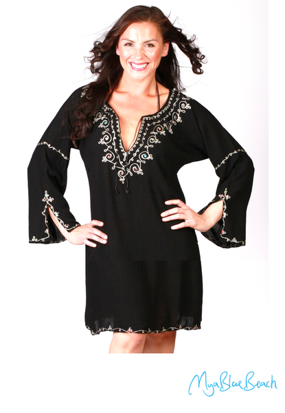 MEDINA Black Beach Kaftan