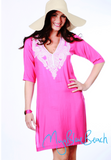 pink cotton coverups, lime beachwear coverup by myabluebeach . Designer kaftans, sale beach tops