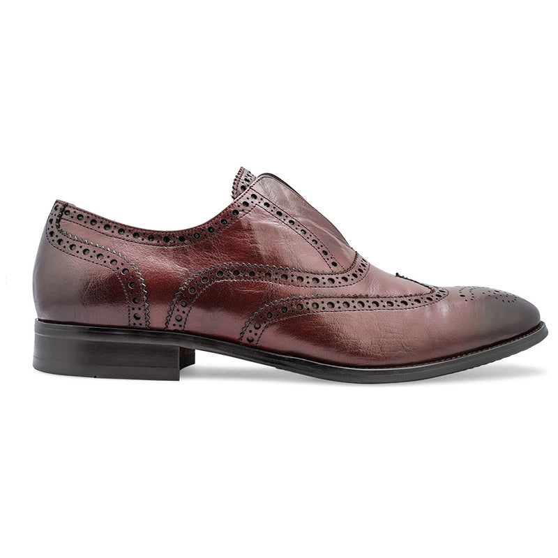 The Washington Wine - Wine Laceless Oxford Slip-ons - Tresmode